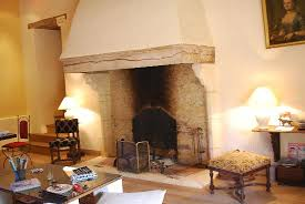 the huge fireplace in the lounge of chateau de forges u86 fireplace