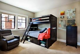 bedroom designs for teenagers boys red white comfortable bedding sheet white yellow laminated wardrobe blue paint