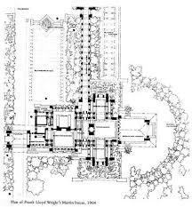 Frank Lloyd Wright Floor Plan   VAlineFrank Lloyd Wright Martin House Plans