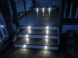 outdoor stair lights image of led deck step lighting ideas