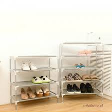 nonwoven fabric storage shoe rack stainless steel cabinet organizer holder removable storage shelf easy to install shoe shelf ali08524809 500x500