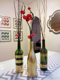 How To Decorate Glass Bottles With Paint DIY Spray Painted Wine Bottles for Fall Decorating 1