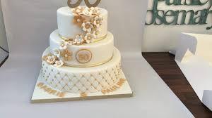Three Tier 50th Anniversary Cake Youtube