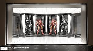 See IRON MAN  Hall Of Armor Concept Art By Jonathan Bach  Film - Iron man house interior