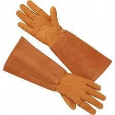 women s gardening gauntlet gloves in
