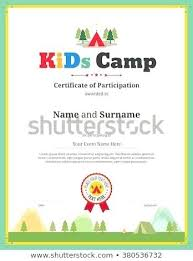 Children Certificate Template Gift Certificate Template Kids Free Child Care Childrens Fr