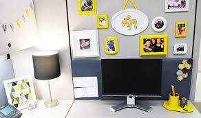 diy office desk accessories. Check Out This Awesome Black And Yellow Themed Cubicle Decorated By Laura Metallo Via The Office Stylist. We Absolutely Adore Style (especially Because Diy Desk Accessories