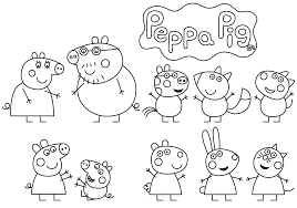 Small Picture Peppa Pig familia y amigos Dibujos para Colorear