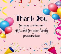 100 thank you for birthday wishes