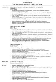 Download Child Life Specialist Resume Sample as Image file