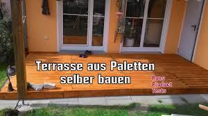 Diy Holz Terrasse Aus Paletten Selber Bauen Schritt F R Schritt Holzterrasse Selber Bauen Kosten