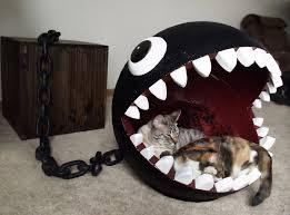 diy chomp monster cat bed