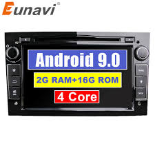 Eunavi Quad Core <b>Android 9.0 2 din</b> Car DVD Stereo for Vauxhall ...