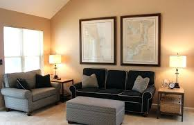 brown leather couch what color rug paint goes with furniture dark inspired living room