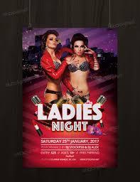 ladies night bie psd flyer template net present