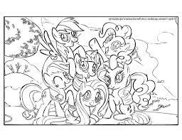 Small Picture My Little Pony Friendship Is Magic Coloring Pages Pdf Coloring