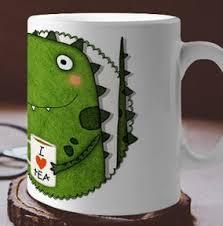 office mug. Tea-Rex Dinosaur Personalised Mug Office