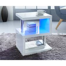 315354 alaska high gloss side table white