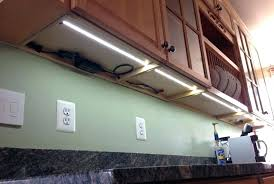 kitchen under cabinet lighting led. How To Install Under Cabinet Led Lighting Kitchen . C