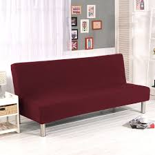 folding armless sofa futon bed cover furniture seater protector couch slipcover