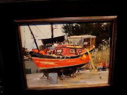 brian blood chinese junk value 2 400 oil 11x14 opening bid 1 900
