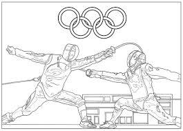 Jeux Olympiques Escrime Sport Jeux Olympiques Coloriages