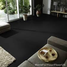 plain black vinyl flooring anti slip quality lino 2m