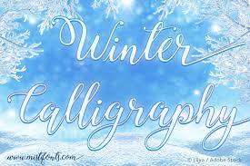 winter calligraphy font dafont com