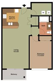 1 Bedroom Apartment Floor PlansBy Brandon Pederson June 24, 2015.  ZoomDetails