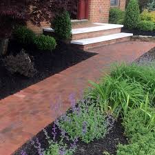 Stone Paver Designs For Walkways Brick Paver Patios And Walkways S A T Landscape