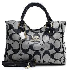 Coach Legacy In Signature Large Grey Satchels 51473
