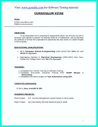 Resume Format For Freshers Computer Science Engineers Free Download Resumet For Freshers In Microsoft Word Electrical Engineers Free 20