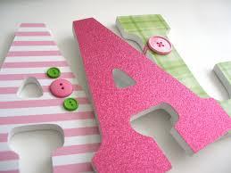 wall letters decor with a