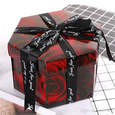 diy surprise love explosion box gift explosion 38 switch for anniversary sbook diy photo al birthday gift 6 angle box wrapping paper for boys