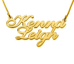 personalized 18k two gold names