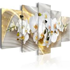 5 pieces wall art fresh white magnolia flower abstract golden background canvas home decoratives paintings framed on white magnolia wall art with 5 pieces wall art fresh white magnolia flower abstract golden