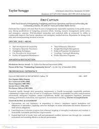 Wildland Firefighting Resume Firefighter Resume Job Description Best