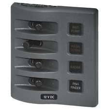 dc fuse panel computers tablets networking blue sea 4304 weatherdeck 12v dc waterproof fuse panel gray 4 positions marine