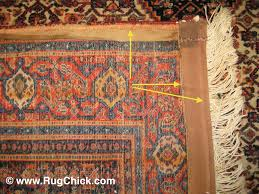 senneh rug that has been ed by a sewing machine to add side cords and