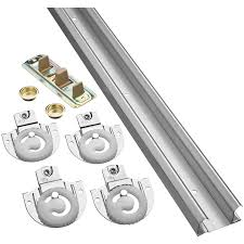 Decorating door rail hardware images : Shop National Hardware 1-Piece 72-in Bi-pass Door Sliding Closet ...