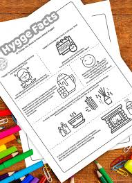 Coloring pages for toddlers, preschool and kindergarten. Free Printable What Hygge Means And How To Embrace This Lifestyle