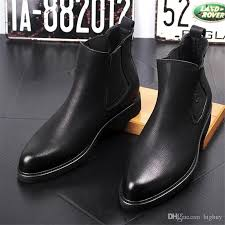 new arrival fashion mens leather chelsea boots casual flats brand men s ankle martin boot vintage shoes