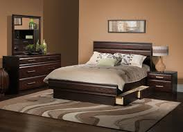 contemporary bedroom furniture. Modern Contemporary Bedroom With Beige Wall And Also Dark Hardwood Bed Cabinetries Framed Picture Above Headboard For Queen Furniture