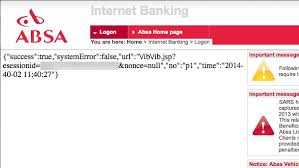 This is a unique number specific to your bank account. Illussion Absa Online Banking Logon Login