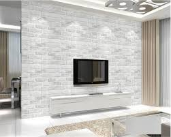 Beibehang Modern Minimalist Thick Gray Brick Wallpapers For Living