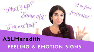 Learn Asl Signing About Feelings And Emotions