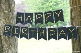 Happy Birthday Banner Printable Black And Gold Download Them Or Print