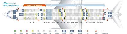 Klm Plane Seating Chart Klm Fleet Boeing 777 300er Details And Pictures