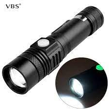 Sạc USB Linterna Led Đèn Pin Đèn Pin El Feneri Siêu Sáng Kèm Pin ForCamping  Leo Núi Săn Mồi Câu Cá A1 LED Flashlights
