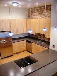 Tiny Apartment Kitchen Apartment Small Loft Apartment Kitchen With Brick Wall And